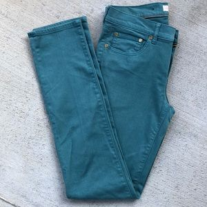 Tory Burch Teal Super Skinny Jeans W29